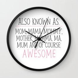 Awesome Mom Wall Clock