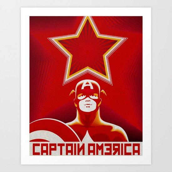 Soviet Art - Captain America Art Print