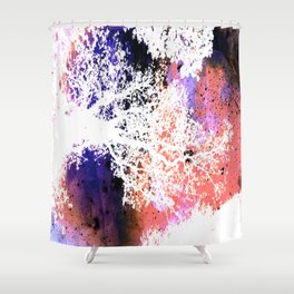 White Trees Colorful Space Shower Curtain