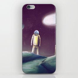 Observing The Energy Comet iPhone Skin