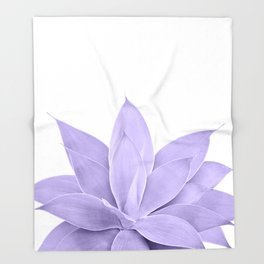 Ultra Violet Agave on White #1 #tropical #decor #art #society6 Throw Blanket