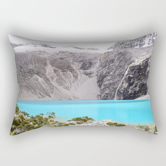 Blue Water Mountains Rectangular Pillow