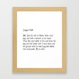 Judges 4:21 Framed Art Print