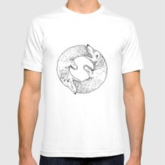 Dog Eat Dog MEDIUM Mens Fitted Tee White