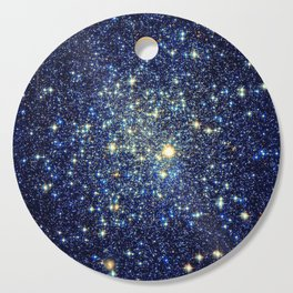 galaxY Stars : Midnight Blue & Gold Cutting Board