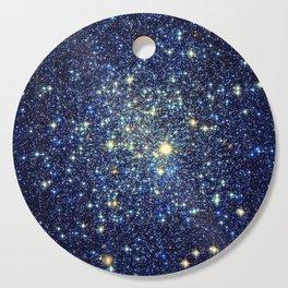 galaxY Stars : Midnight Blue & Gold Cutting Board