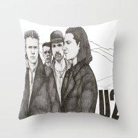 u2 Throw Pillows featuring Joshua Tree by Paul Nelson-Esch Art