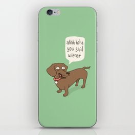 Immature Dachshund iPhone Skin