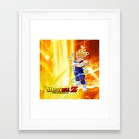 dragonball z Framed Art Prints featuring Vegeta Dragonball Z best idea by customgift