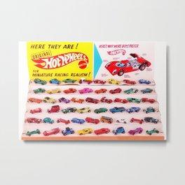 1970's Original Hot Wheels Redline Toy Department Store Display Poster Metal Print