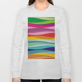 Colorful waves Long Sleeve T-shirt