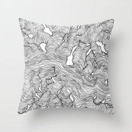 Enveloping Lines Throw Pillow