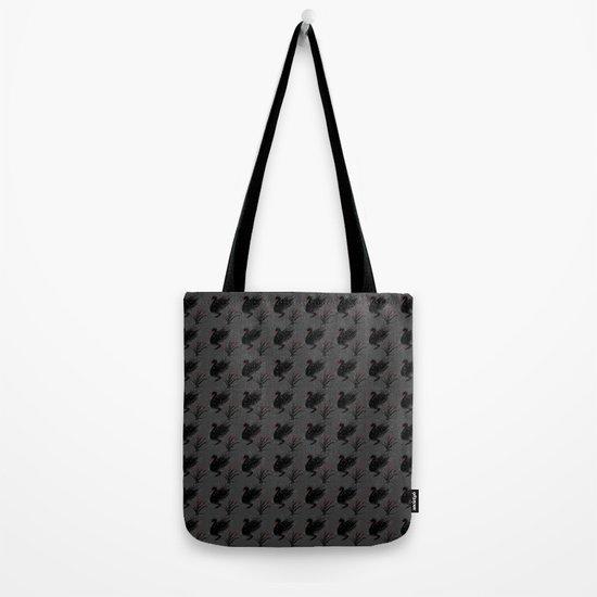 Winter Black Swan Tote Bag