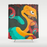 suits Shower Curtains featuring Phoenix Suits by SADOstyle