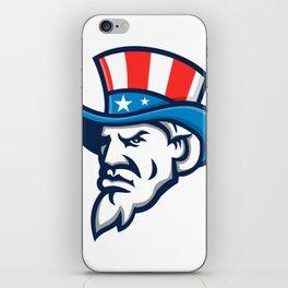Uncle Sam Wearing USA Top Hat Mascot iPhone Skin