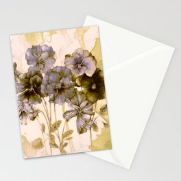 faded bouquet Stationery Cards