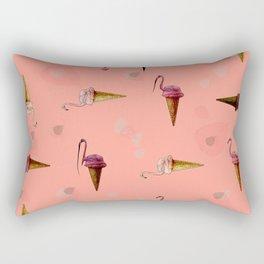 pink flamingo in ice cream Rectangular Pillow