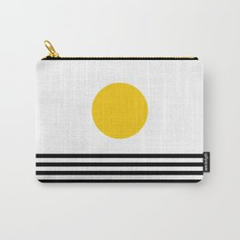 Midcentury Yellow Minimalist Sunset With Black Stripes Carry-All Pouch