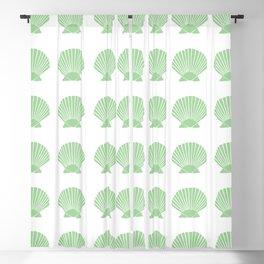 Mint Seashell Blackout Curtain