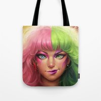 battlefield Tote Bags featuring Battlefield  by Kate Laird