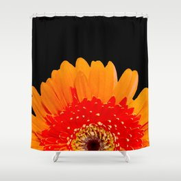 ORANGE GREETING Shower Curtain