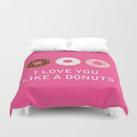 food Duvet Covers featuring food by mark ashkenazi