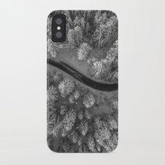 Snow pine forest iPhone X Slim Case