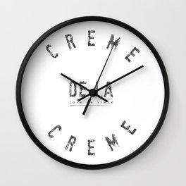 Creme de la Creme - Joie de vivre Wall Clock