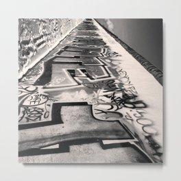 .the wall is mine. Metal Print