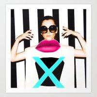 the xx Art Prints featuring xx by Neon Wonderland