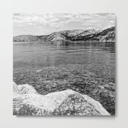 Island of Krk black and white Metal Print