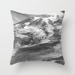 Glaciated Mount Rainier Throw Pillow