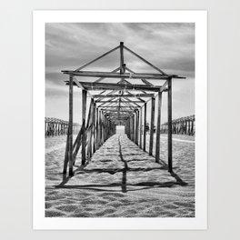 Povoa de Varzim beach in Portugal Art Print