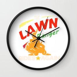Fun Lawn Mowing Lawn Ranger Landscaping Gardening Landscaper Design Wall Clock