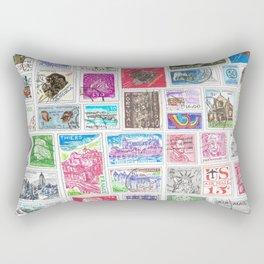Stamp Collection Rectangular Pillow
