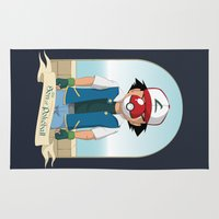 pokeball Area & Throw Rugs featuring The Son of Pokeball by I.Nova