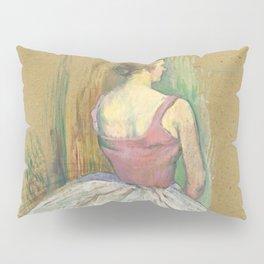 """Henri de Toulouse-Lautrec """"Danseuse en pied. Vue de dos (Standing dancer. Back vue)"""" Pillow Sham"""
