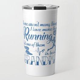 Running Grandma Travel Mug