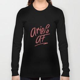 Aries AF T Shirts Star Sign Zodiac Astrology Tee Long Sleeve T-shirt