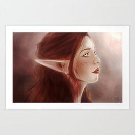 Dalish Elf Art Print