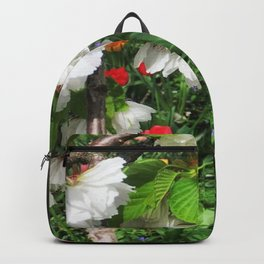 Cherry Blossoms and Tulpis Backpack