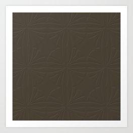 Deep Bronze Taupe Art Print