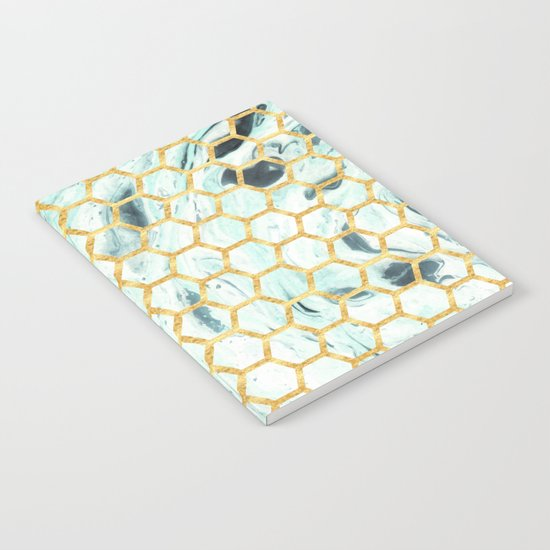 Teal + Gold #society6 #decor #buyart Notebook