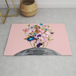 Moon Horse #collage Rug