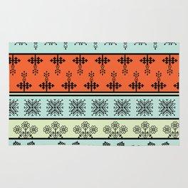 folk embroidery, flowers, birds, peacocks, horse, symbols earth, sun fertility, harvesting Rug
