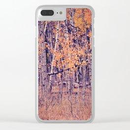 Autumn Orange I Clear iPhone Case