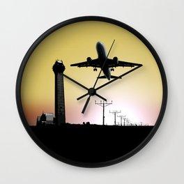 ATC: Air Traffic Control Tower & Plane Wall Clock
