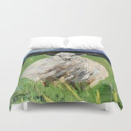 Big fat wooly sheep Duvet Cover