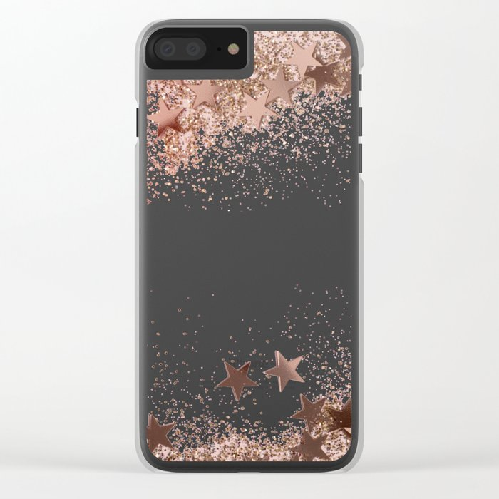 ROSEGOLD Clear iPhone Case