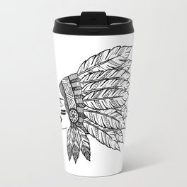 Native Warrior Travel Mug